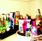 Closet shelf - spritzers and lubes with a quickness!