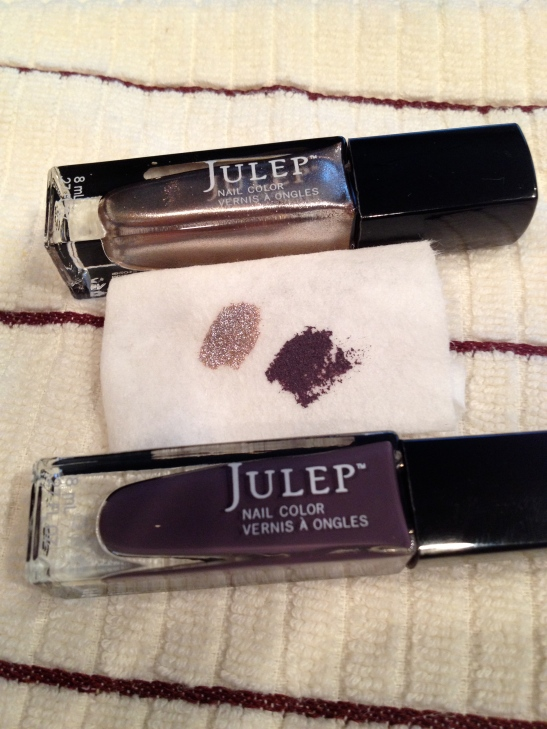 TOP: ZELDA Pink champagne metallic;  BOTTOM: GABRIELLE Smoky mulberry crème